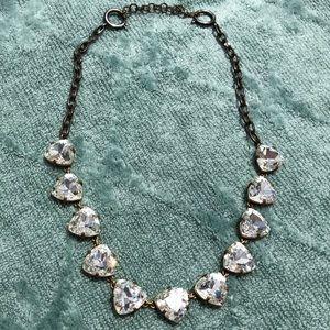 Stella & Dot White Rhinestone Necklace